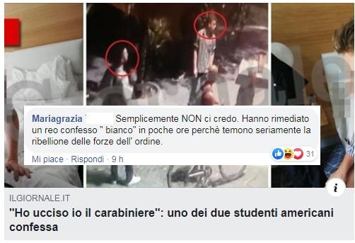 carabiniere ucciso sovranisti cop