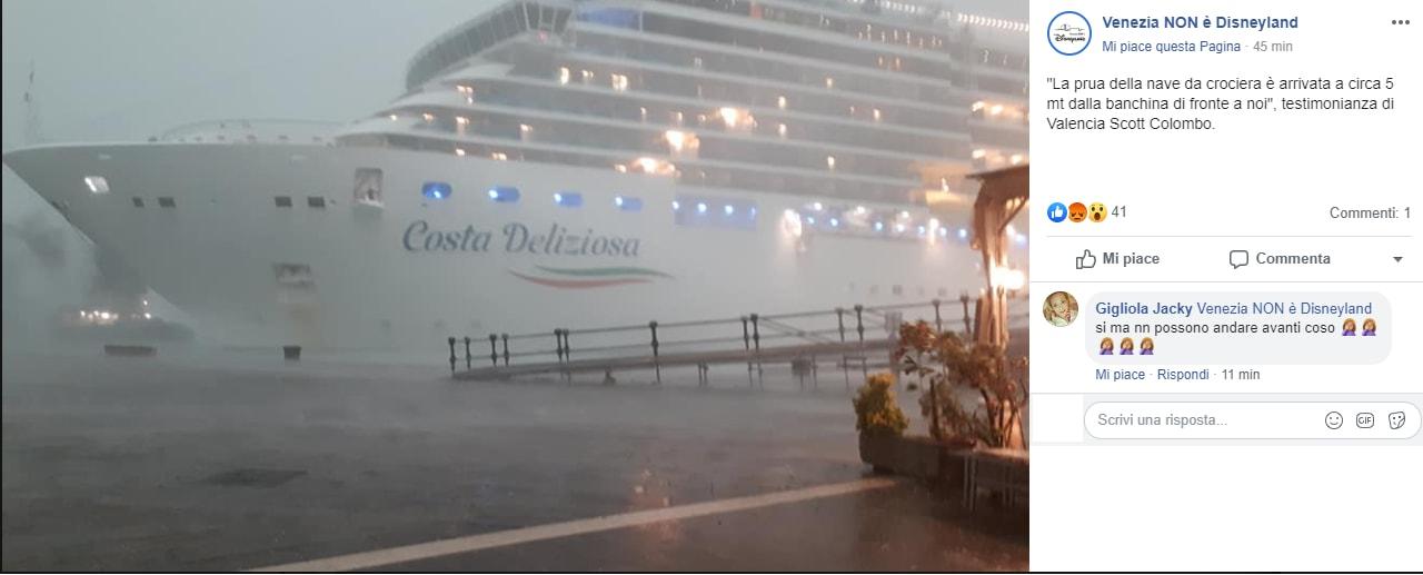 costa deliziosa incidente venezia 1