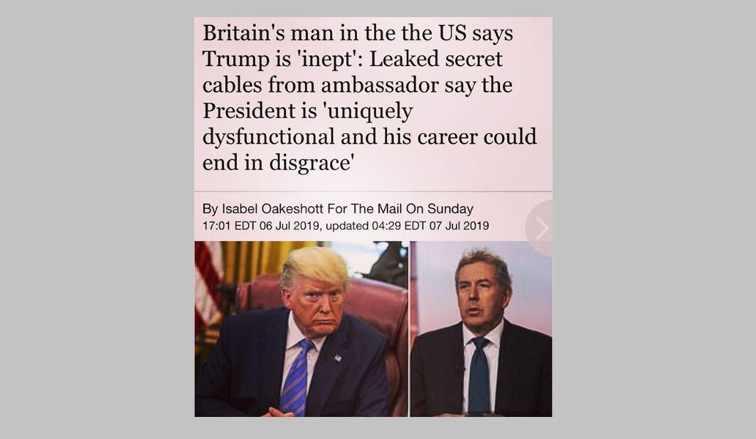 diplomatic cable trump darroch