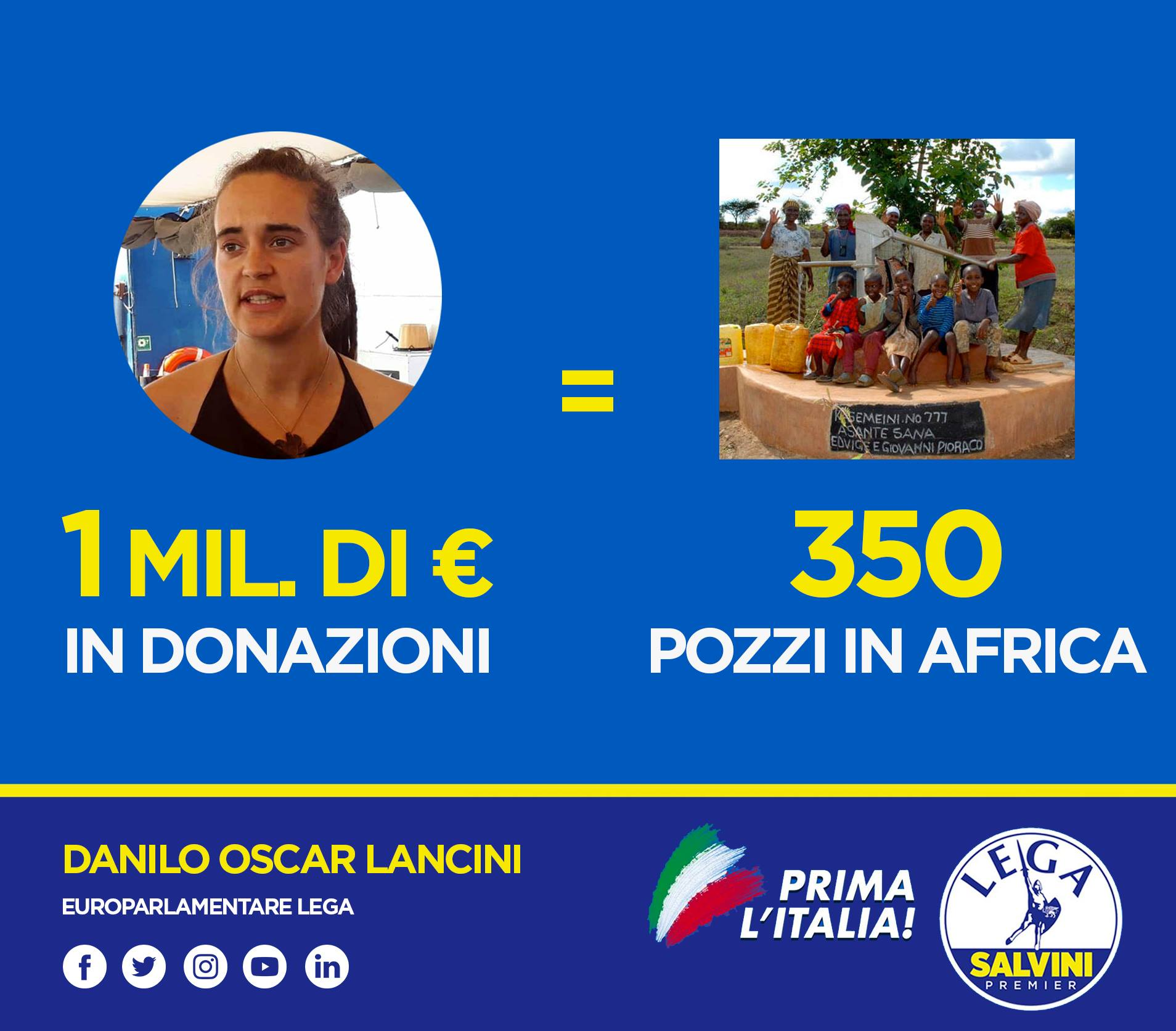 donazioni carola rackete pozzi in africa