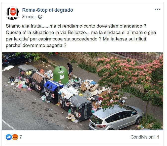 emergenza monnezza strade di roma 2