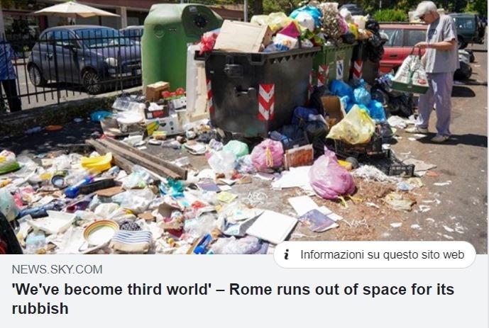 emergenza monnezza strade di roma 3