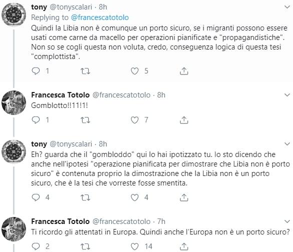 francesca totolo complotto bombardamento centro detenzione migranti - 4