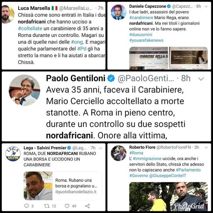 gentiloni carabiniere ucciso nordafricani 1