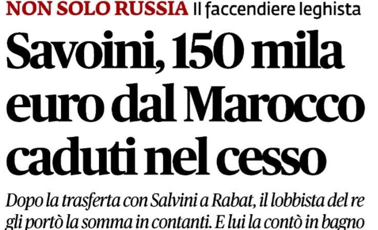 gianluca savoini 150mila euro cesso