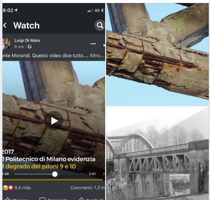 luigi di maio falsa foto ponte morandi 1