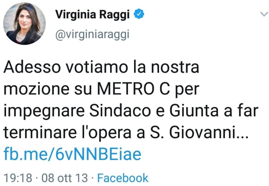 Virginia Raggi: la Metro D per ricandidarsi a Roma