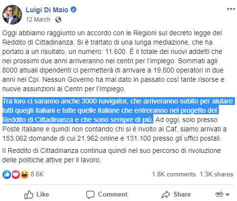 navigator idonei senza posto anpal di maio reddito cittadinanza - 1