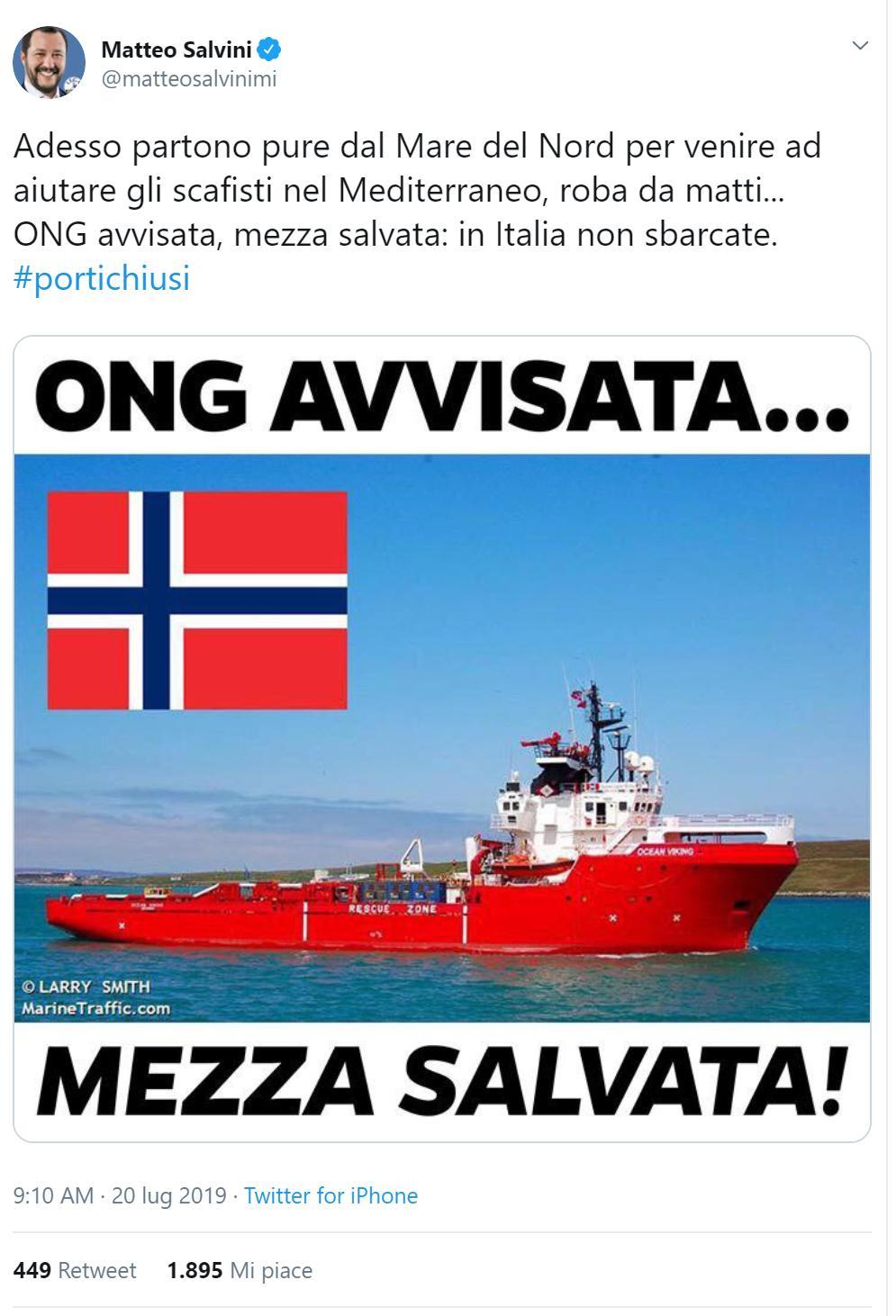 ocean viking ong medici senza frontiere