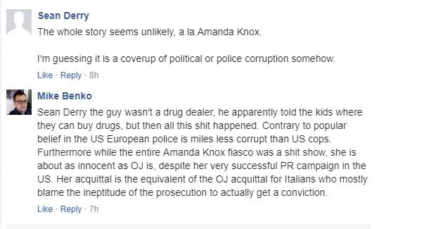 omicidio carabiniere cosa dicono in america 3