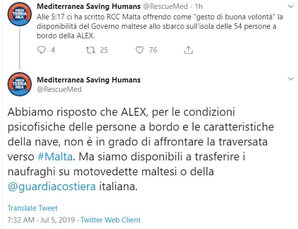 ong mediterranea alex salvini lampedusa -2
