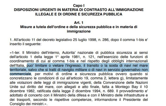 salvini decreto sicurezza gregoretti - 1