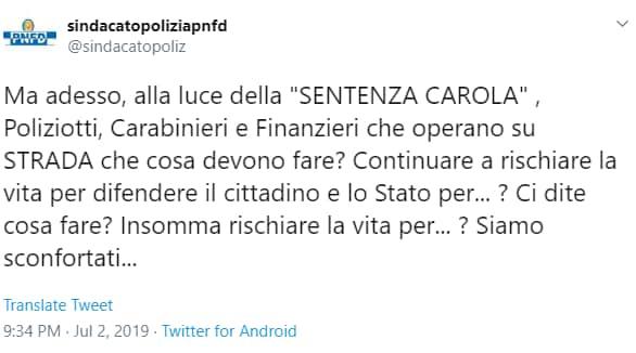sindacato polizia pnfd alessandra vella gip carola - 1