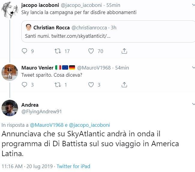 sky cinema atlantic di battista