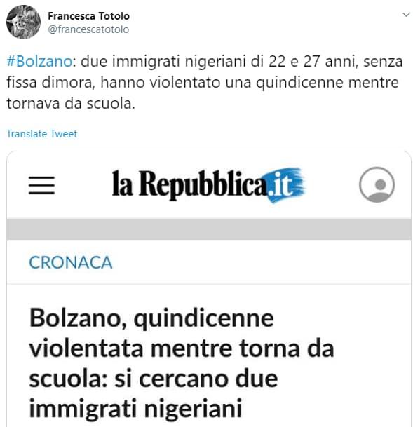 stupro bolzano nigeriani bufala - 7