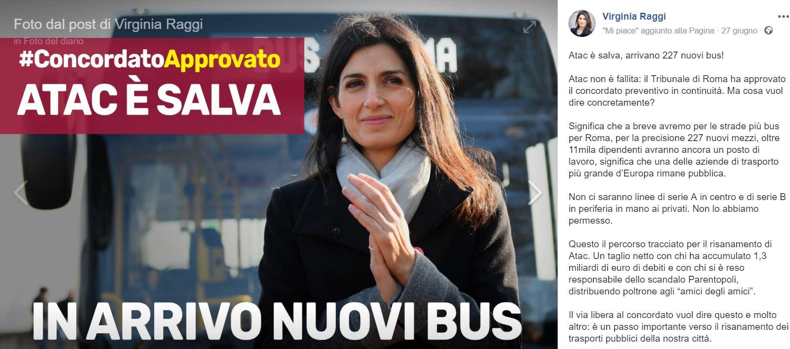 virginia raggi autobus 1