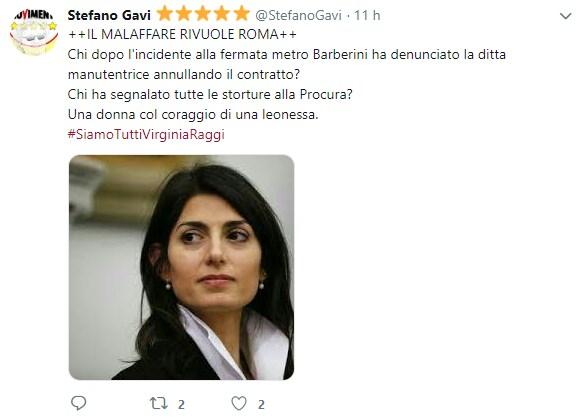 virginia raggi malaffare roma twitter - 1