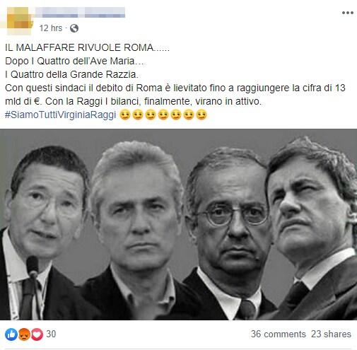 virginia raggi malaffare roma twitter - 5