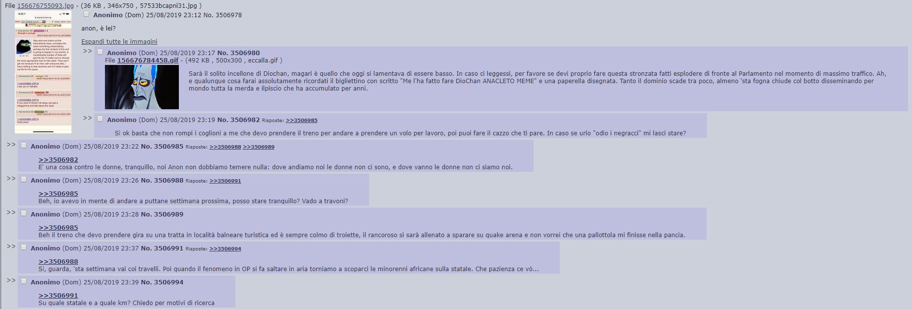 4chan anon italia minacce terrorismo attacco - 3