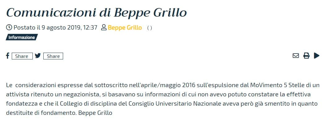 BEPPE GRILLO SCUSE CARACCIOLO