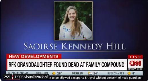 Saoirse Hill kennedy morta