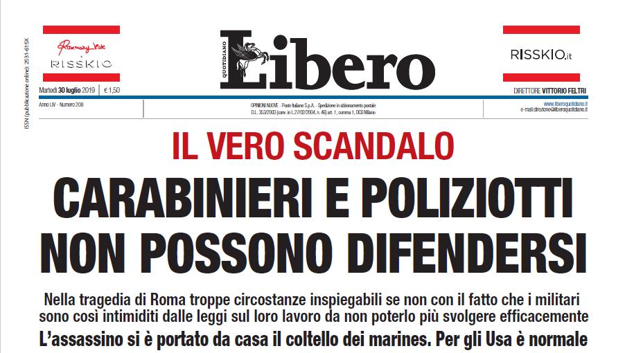 carabinieri non possono sparare