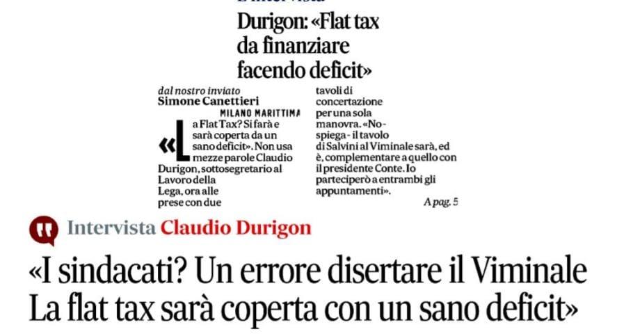 claudio durigon flat tax deficit