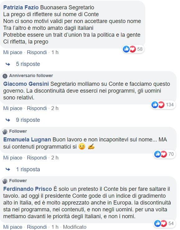 conte zingaretti pagina fb