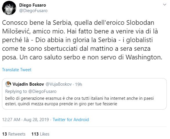 diego fusaro boskov milosevic - 1