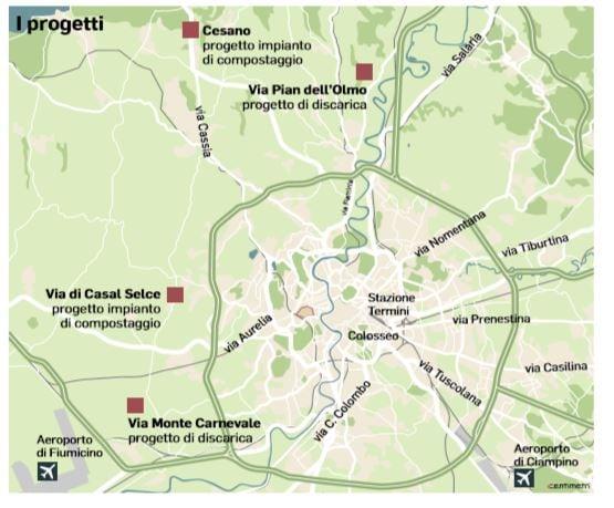 discarica roma progetti