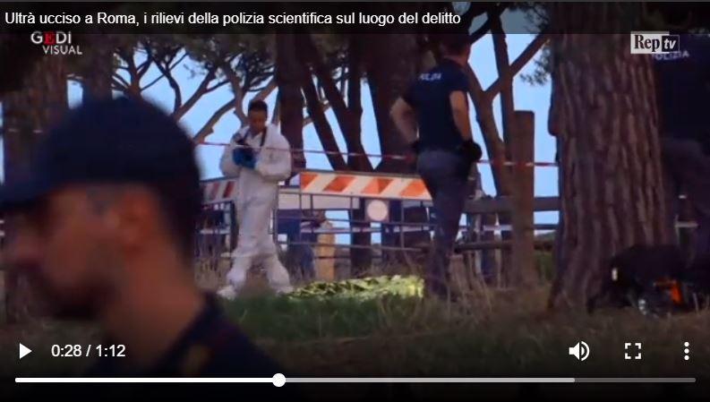 fabrizio piscitelli omicidio diabolik parco acquedotti via tuscolana