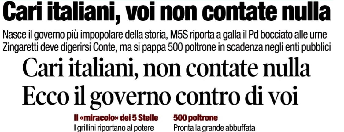 franco bechis governo pd-m5s