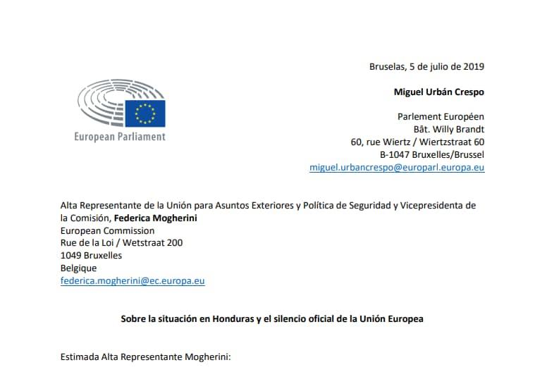 honduras parlamento europeo