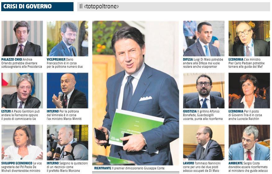 ministri governo conte bis