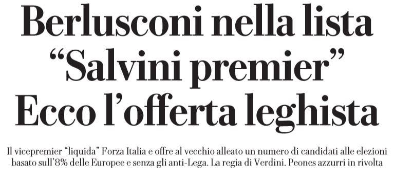 salvini berlusconi forza italia
