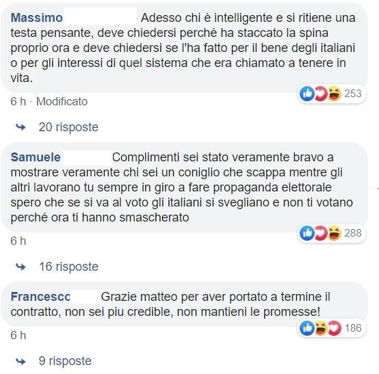 salvini commenti pagina facebook 1