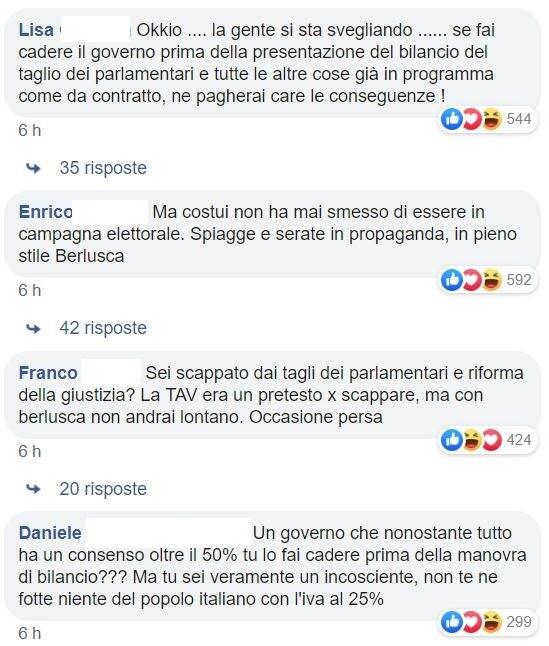 I post contro Salvini… sulla pagina fb di Salvini
