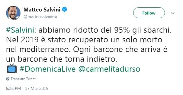 salvini migranti morti mediterraneo centrale - 11