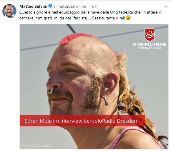 salvini ong mission lifeline