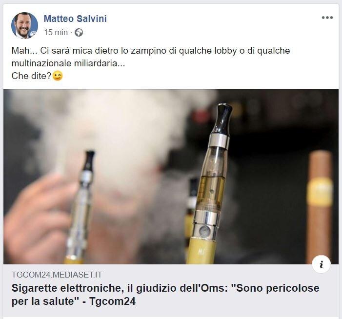 salvini sigarette elettroniche