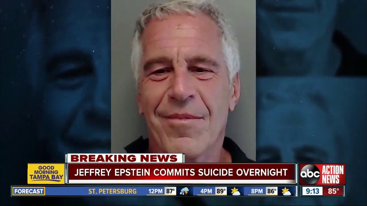 suicidio di Jeffrey Epstein