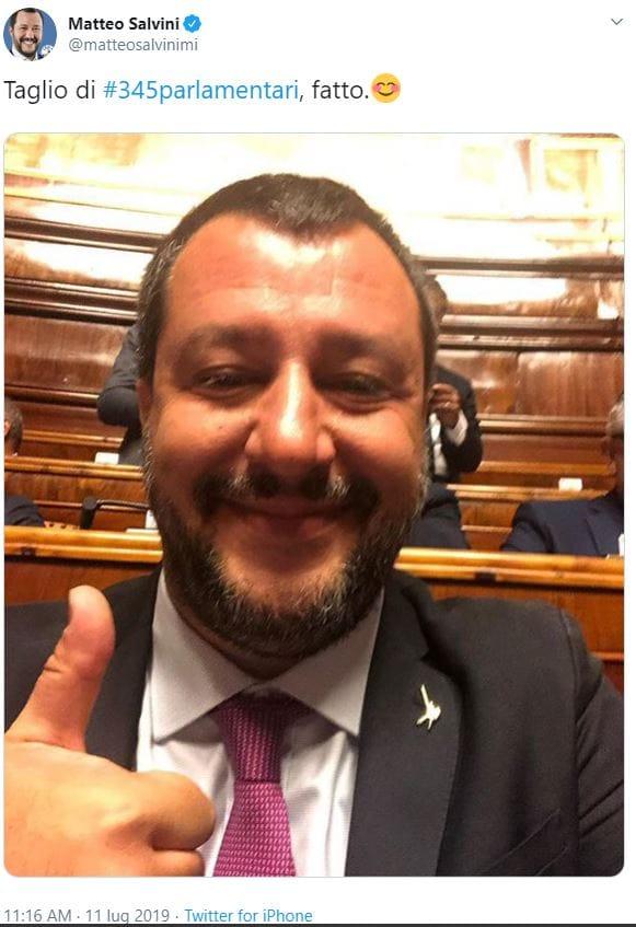 taglio 345 parlamentari