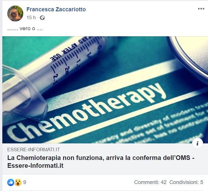 FRANCESCA ZACCARIOTTO ANTI CHEMIOTERAPIA 1
