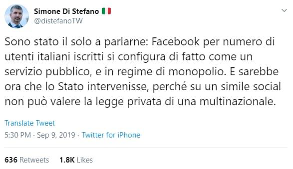 casapound ban facebook rosicata - 2