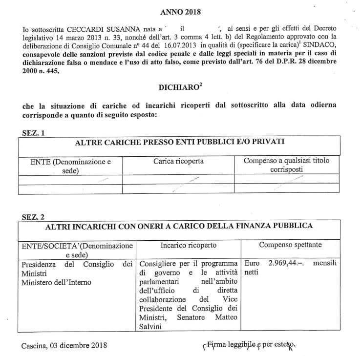 ceccardi doppio compenso sindaco consigliere salvini - 2