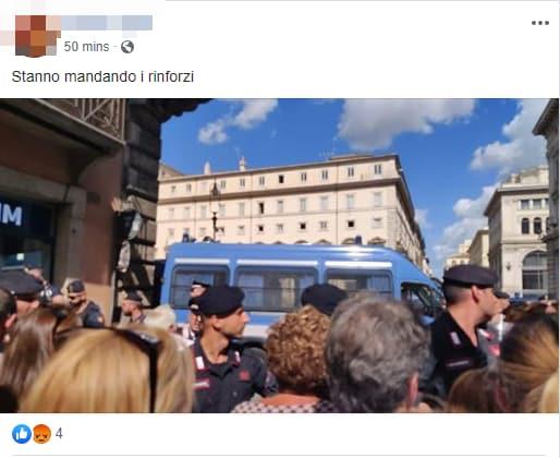 montecitorio manifestazione lega salvini fdi - 7