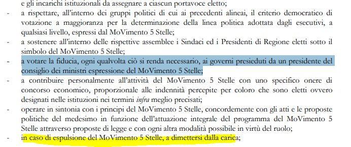 movimento 5 stelle fiducia gianluigi paragone