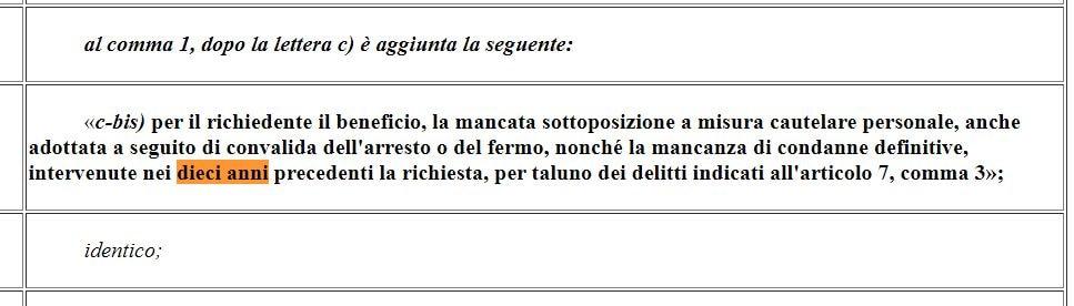 reddito di cittadinanza legge 1