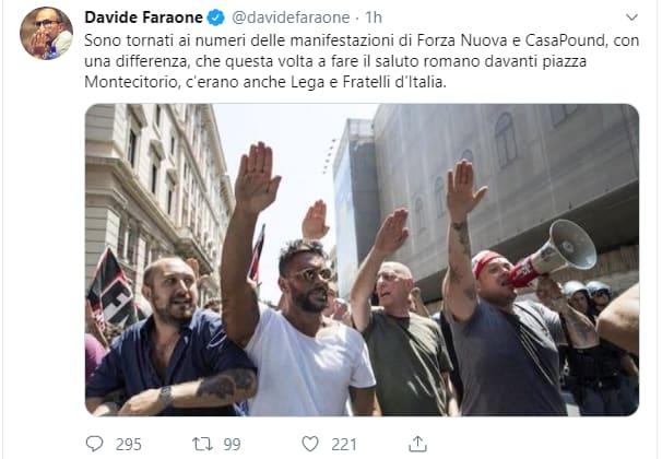 saluti fascisti roma salvini meloni montecitorio fake - 2