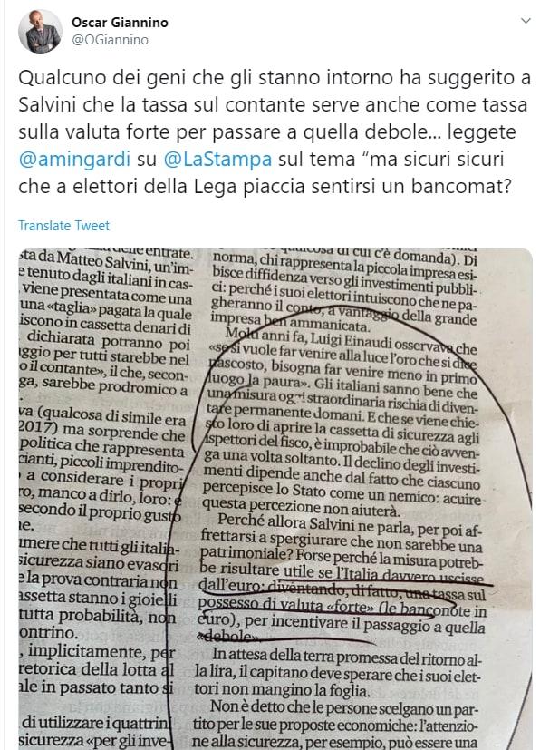 salvini tassa contanti prelievi bancomat confindustria - 4